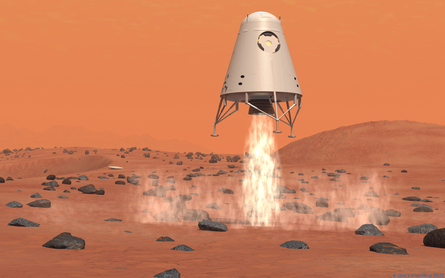 landing on the mars - photo #1